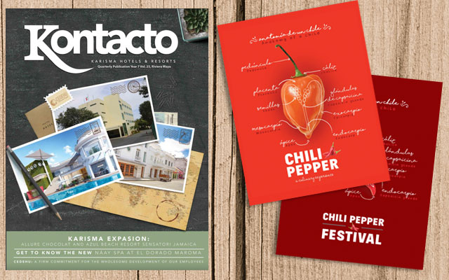 Revista Corporativa Kontacto y folletos Chili Fest 2016 y 2017