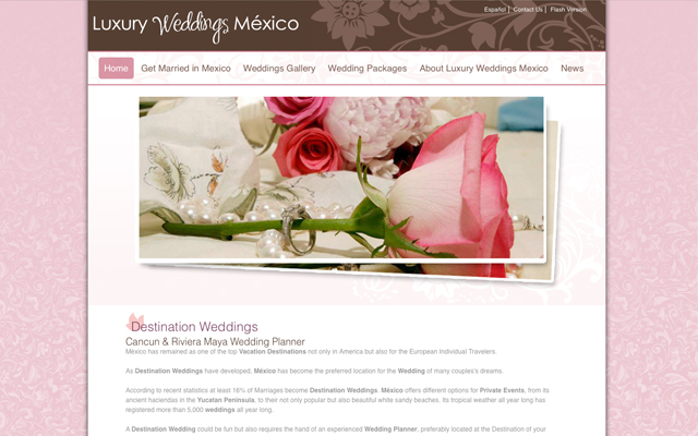 Sitio Web Luxury Weddings