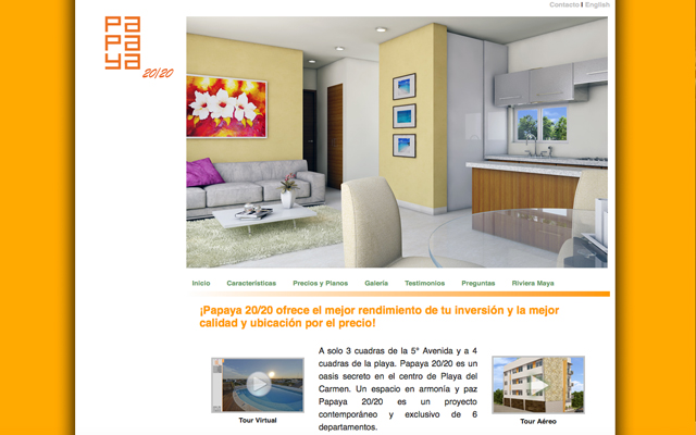Sitio Web Papaya 20/20